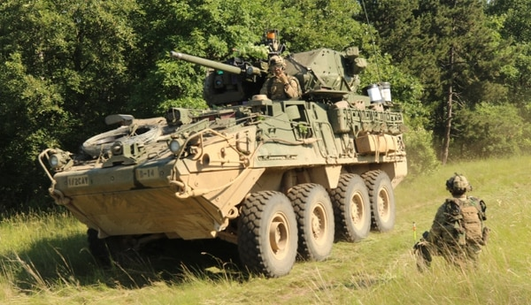 The Army's FY21 budget request seeks funding to modernize the Stryker armored vehicle. (Spc. Joseph E. D. Knoch/U.S. Army)
