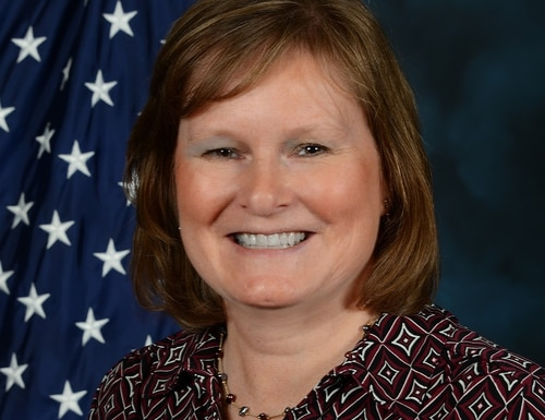 Carlen Capenos, the new director of the Defense Information Systems Agency's Office of Small Business Programs, on reinforcing relationships to benefit the war fighter. (Courtesy of DISA OSBP)