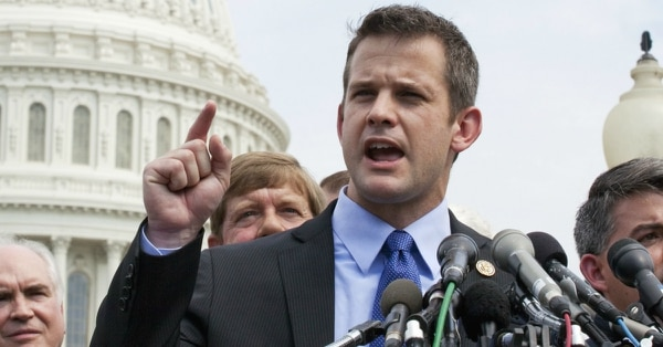 Rep. Adam Kinzinger, R-Ill., said his most recent deployment to the Mexican border convinced him not to oppose President Donald Trump's declaration of an emergency to build a wall. (Susan Walsh/AP)