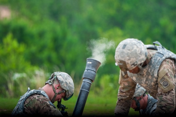 "One of the members of the winning team from the 82nd Airborne Division said, ""We're getting paid to shoot rockets out of cannons. How cool is that."" (Patrick A. Albright/Army)"