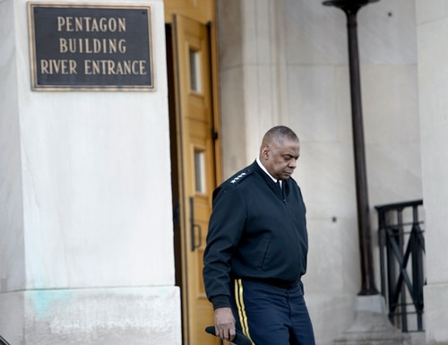Lloyd Austin III, then commander of the US Central Command, leaves the Pentagon March 8, 2016. Austin is reportedly under consideration to be Defense Secretary, but would require a waiver from Congress. (Brendan Smialowski/AFP via Getty Images)