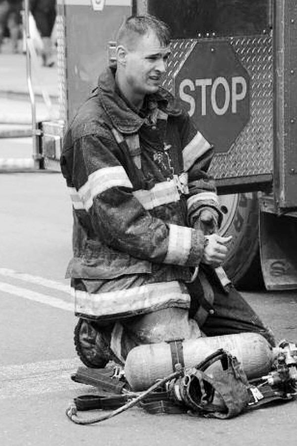 This undated photo, provided by the Fire Department of New York shows Fire Department of New York firefighter Christopher Slutman. Slutman, a 15-year member of the Fire Dept. of New York, was among three American service members killed by a roadside bomb in Afghanistan on Monday. (Fire Department of New York via AP)