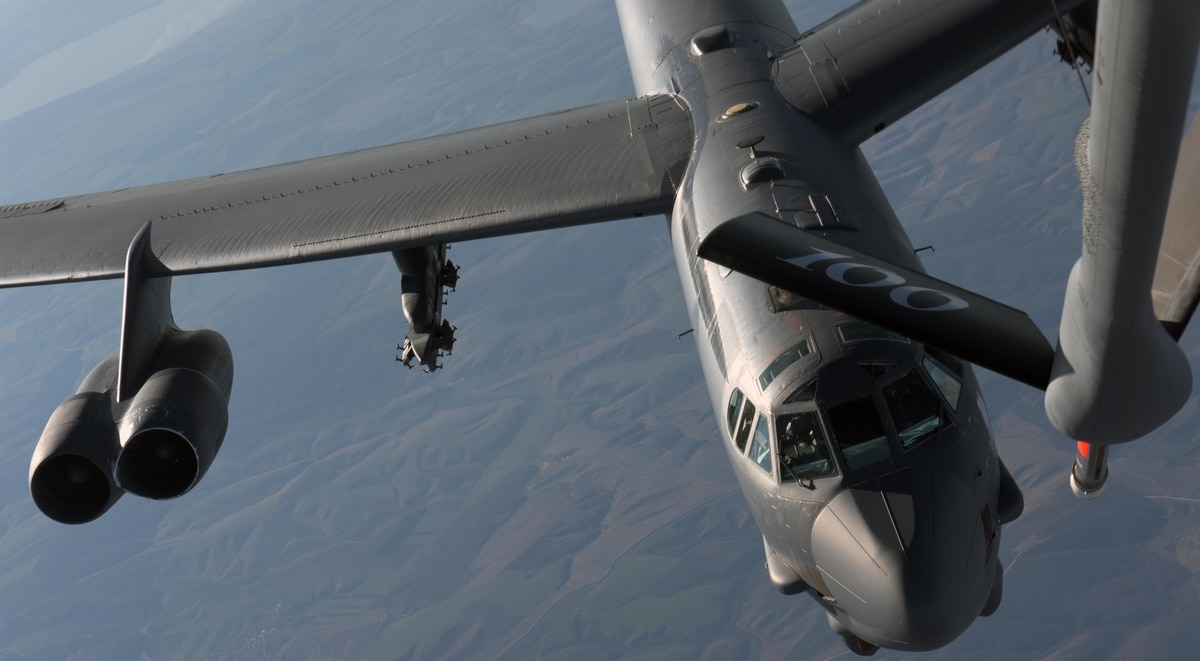 B-52 bombers are flying near Russian and Chinese waters this