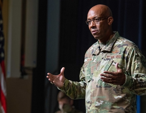 The Air Force's top officer, Gen. Charles Brown, said electromagnetic spectrum operations could flip the cost curve for defeating enemies. (Melanie Rodgers Cox/Air Force)