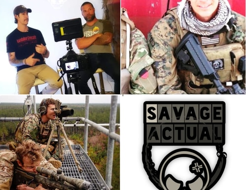 Special Operation veterans Patrick Moltrup and Jason Lilley have teamed up to create a YouTube channel, which has quickly grown to more than 80,000 subscribers. (Savage Actual YouTube page)