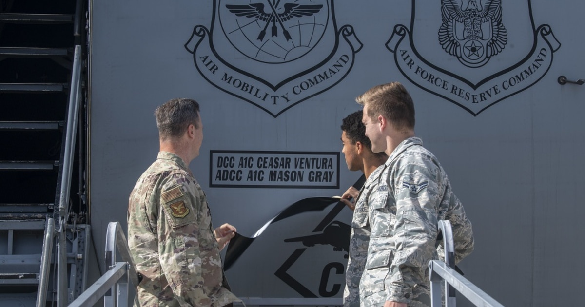 Dedicated crew chiefs can now paint their names on Air Mobility Command aircraft
