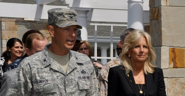 Jill Biden, former First Lady, was honored for her work with the Biden Foundation and the Joining Forces initiative. (Christin Michaud/Air Force)
