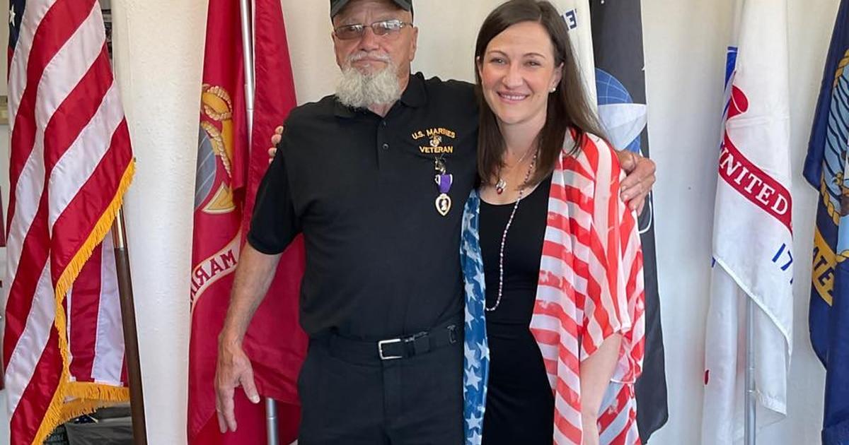 52 years later Marine Vietnam veteran receives Purple Heart