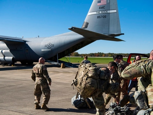The majority of Americans support sending troops abroad to defend freedom and fight human rights violations, regardless of threats to the U.S., according to a new survey. (Airman 1st Class Zoe M. Wockenfuss/Air Force)