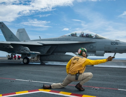 Engility will conduct maintenance of aircraft aboard Navy ships and at Marine Corps airfields, according to the company. (Petty Officer 3rd Class Daniel Gaither/U.S. Navy)