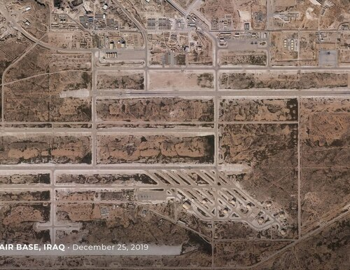 Al-Asad airbase before Iran launched missiles targeting the base. (Planet Labs Inc)