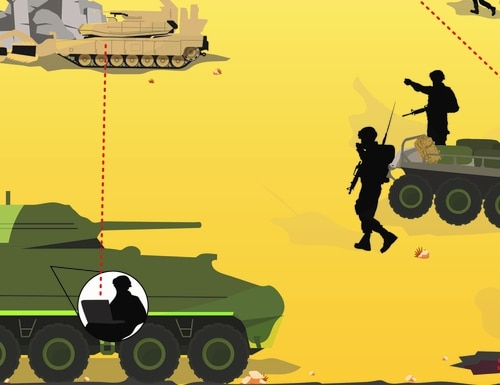 Future wars will be fought with mechanized battle buddies. (Army Times/Jacki Belker)