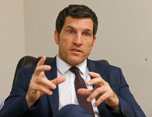 In this Friday, Oct. 7, 2016, photo, Virginia's 2nd District Congressman Scott Taylor speaks during an interview in his campaign office in Virginia Beach, Va. (Steve Helber/AP)