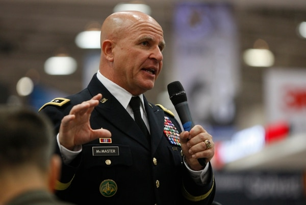Lt Gen. H. R. McMaster, Director of Army Capabilities and Integration Center and Deputy Commanding General, Futures of Army Training and Doctrine Command, speaks at the annual meeting of the Association of the US Army at the Walter E. Washington Convention Center in Washington, D.C., on Tuesday, October 14, 2014. (Mike Morones/Staff)