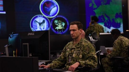 Sailors stand watch in the Fleet Operations Center at the headquarters of U.S. Fleet Cyber Command/U.S. 10th Fleet at Maryland's Fort Meade. (MC1 Samuel Souvannason/Navy)
