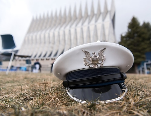 The U.S. Air Force Academy Class of 2020 graduation ceremony in Colorado Springs, Colo., April 18, 2020. (Trevor Cokley/Air Force)