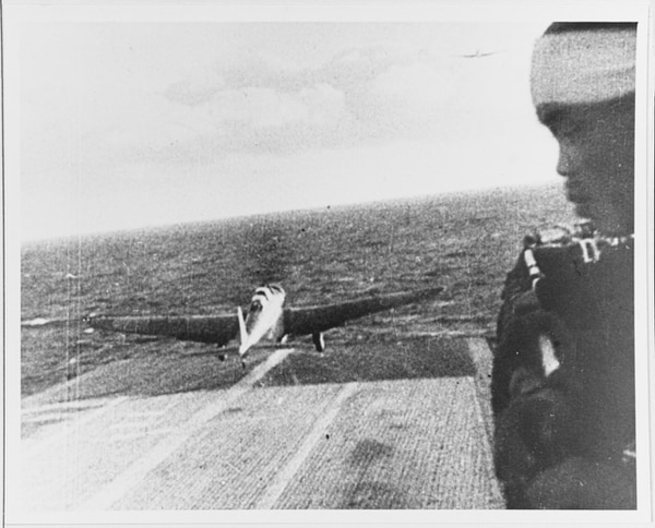 A Japanese Navy Type 97 Carrier Attack Plane (