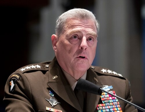 Gen. Mark Milley hinted that the health of the economy may be more important than military power after the coronavirus pandemic ends. (Michael Reynolds/AP)