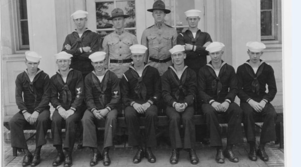 Enlisted personnel who were selected from Hampton Roads, Virginia, area to be midshipmen at the Naval Academy in 1923. (U.S. Naval History and Heritage Command)