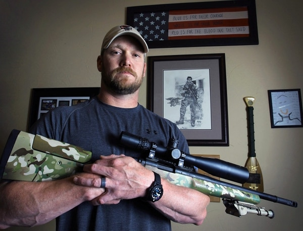 FILE - In this April 6, 2012 file photo, Chris Kyle, a former Navy SEAL and author of the book ìAmerican Sniper,î poses in Midlothian, Texas. Kyle and his friend Chad Littlefield were fatally shot at a shooting range southwest of Fort Worth, Texas, on Saturday, Feb. 2, 2013. Former Marine Eddie Ray Routh, who came with them to the range, has been arrested for the murders. (AP Photo/The Fort Worth Star-Telegram, Paul Moseley, File) ORG XMIT: TXFOR501