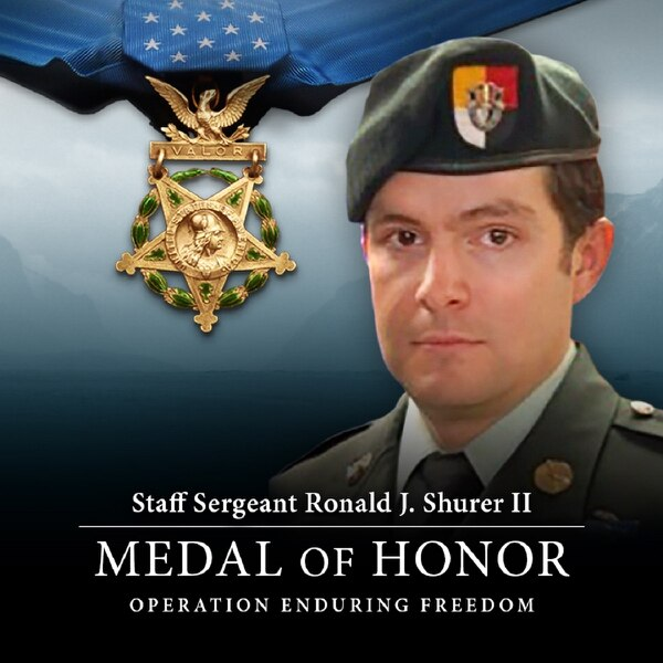 Staff Sgt. Ronald Shurer II will receive the Medal of Honor for his actions on April 6, 2008, while assigned to Special Operations Task Force-33 in Afghanistan. (Army)