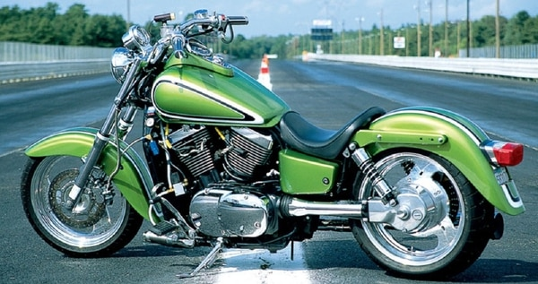 The Kawasaki Vulcan Classic, in its native habitat. (Jamie Elvidge)