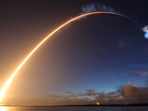 The U.S. Air Force's 45th Space Wing helped successfully launch the fourth Mobile User Objective System (MUOS) satellite aboard a United Launch Alliance Atlas V rocket from Launch Complex 40 here Sept. 2, 2015, from Cape Canaveral Air Force Station, Fla., at 6:18 a.m. EDT. The U.S. Navy-delivered MUOS is a next-generation narrowband tactical satellite communications system, built by Lockheed Martin, designed to significantly improve ground communications for U.S. forces on the move. (Michael Deep/Spaceflight Insider via Air Force)