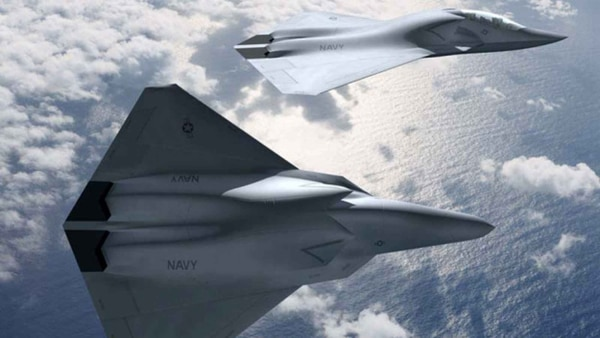 Concept art from 2016 shows a potential design for the U.S. Navy's next fighter jet. (Boeing)