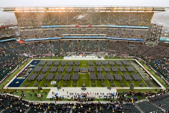 The 120th Army-Navy football game on Dec. 14, 2019, at Lincoln Financial Filed in Philadelphia. (West Point)