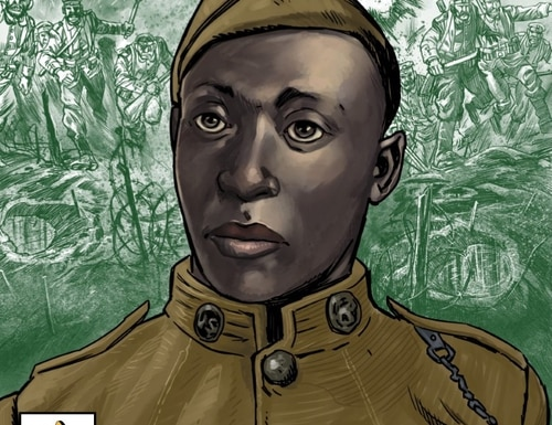 Henry Johnson's story is the next in the AUSA graphic series. (AUSA)