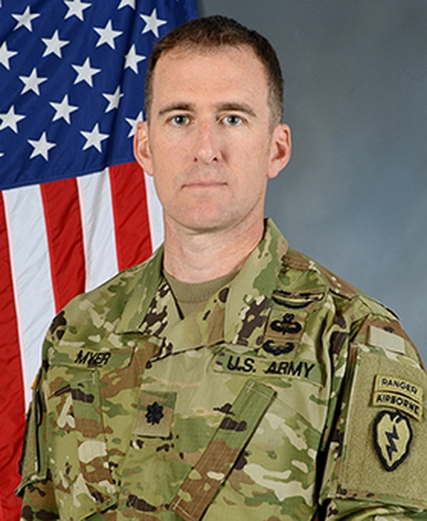Lt. Col. Matthew R. Myer was recognized by West Point Association of Graduates, who have named him the 2018 Alexander Nininger Award for Valor at Arms recipient in part for his service as commander of Chosen Company, 2nd Battalion (Airborne) 503rd Infantry, 173rd Airborne Brigade during the unit's 2007-08 Afghanistan tour. (contributed Matthew Myer)