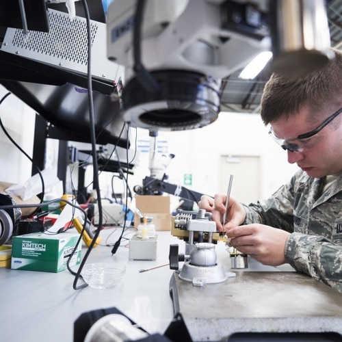 Readily available general-purpose circuits often result in unnecessary and power-hungry circuitry. (Staff Sgt. Samuel Morse/366th Fighter Wing)