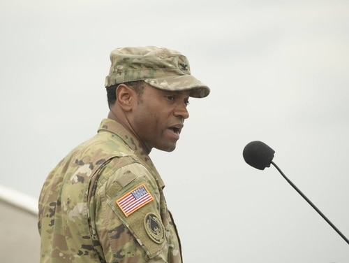 Col. Kevin M. Russell faces five counts of violating Article 120 of the UCMJ, according to an Army court docket. (Army)