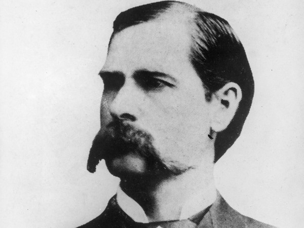 A portrait of American lawman and gunfighter Wyatt Earp from the late 1800s. (Pictorial Parade/Getty Images)