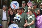 Deported Army veteran returns to US in bid to become citizen