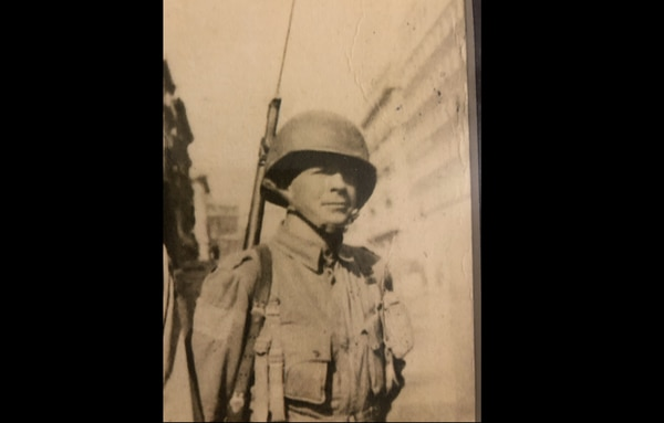 Retired 1st Sgt. Harold Eatman was one of the original members of the 505th Parachute Infantry Regiment. He is seen here in Naples in October 1943. Eatman died July 6, 2018. He was 102.