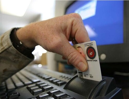 The Defense Department is making a number of improvements to the Common Access Card to enhance identity authentication and physical and network security. DoD image