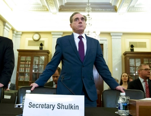 Veterans Affairs Secretary David Shulkin arrives to testify on veterans programs at the Senate Committee on Veterans Affairs at Capitol Hill, Wednesday, March 21, 2018, in Washington. (Jose Luis Magana/AP)
