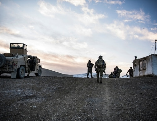U.S. Special Forces and Afghan special security forces work and train together in eastern Afghanistan, winter 2019-2020. (Tech. Sgt. Gregory Brook/Air Force)