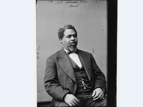 A hero of the Civil War and a fierce opponent of Jim Crow laws, Robert Smalls, S.C. M.C., was born in Beaufort, South Carolina, in 1839. (Library of Congress)