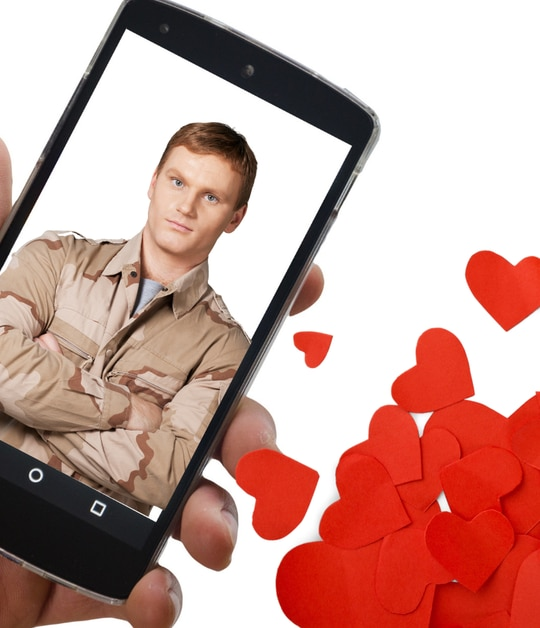 There are several stereotypical military dating app profiles. (Composite via Canva)