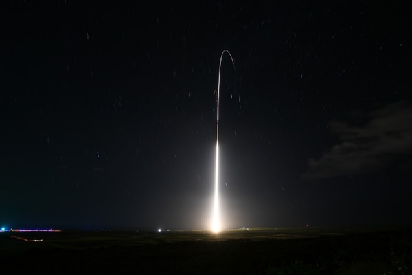 The team manning the Aegis Ashore Missile Defense Test Complex at the Pacific Missile Range Facility at Kauai, Hawaii, conduct a flight test. (Ryan Keith/U.S. Missile Defense Agency)
