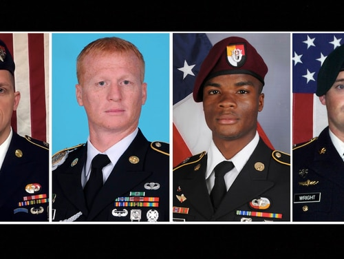 From left, Staff Sgt. Bryan Black, Staff Sgt. Jeremiah Johnson, Sgt. La David Johnson, and Staff Sgt. Dustin Wright. (U.S. Army)