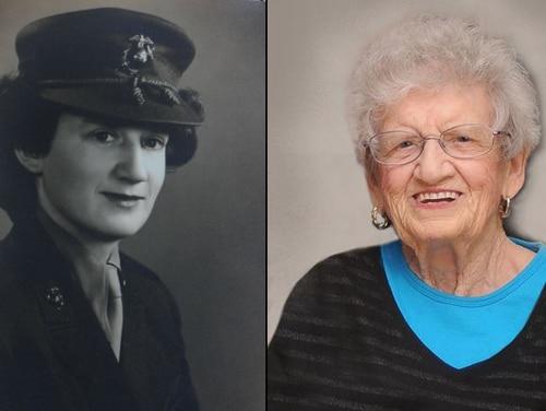 Sgt. Dorothy Schmidt Cole turned 107 on Saturday, making her the oldest living Marine veteran, according to the Marine Corps. (Marine Corps tweet)