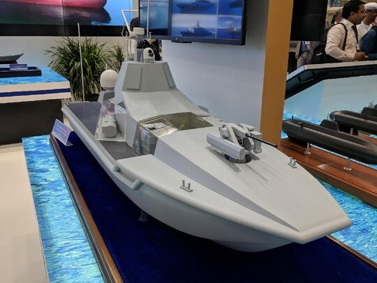 Company representatives say China has a working prototype of the JARI USV, which is equipped like a mini DDG, but details beyond that are scant. (Photo by David B. Larter)