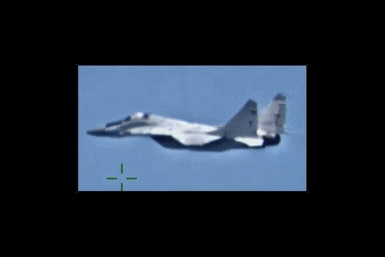 In this May 26, 2020, photo, from U.S. Africa Command, Russian fighter jets were recently deployed to Libya in order to support Russian state-sponsored private military contractors operating on the ground there. (DVIDS)