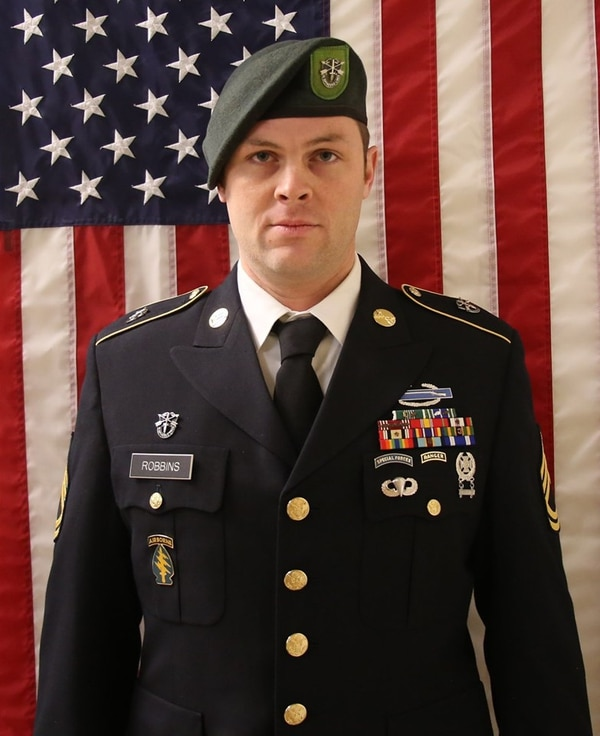 Army Sgt. 1st Class Elliott Robbins died in a non-combat incident on June 30 while serving in Afghanistan.