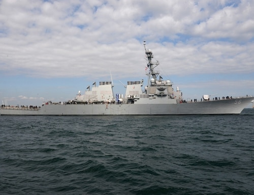 A repaired and upgraded warship John S. McCain is headed back into operations, nearly three years after a fatal collision killed 10 sailors. (Navy)