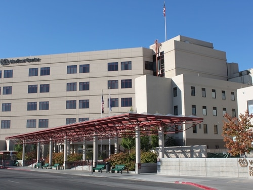 The VA Sierra Nevada Health Care System in Reno, Nev., is shown in 2010. Two employees at the site have died in recent days because of the coronavirus, (Veterans Affairs photo)