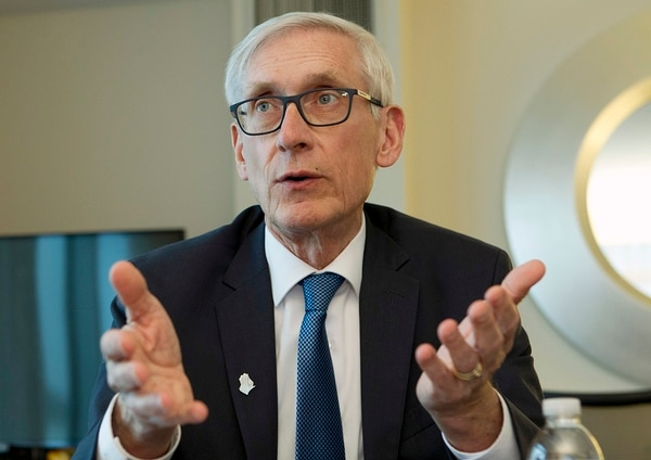 In this Feb. 23, 2019, file photo, Wisconsin Gov. Tony Evers speaks during an interview during the National Governors Association 2019 winter meeting in Washington. (Jose Luis Magana/AP)